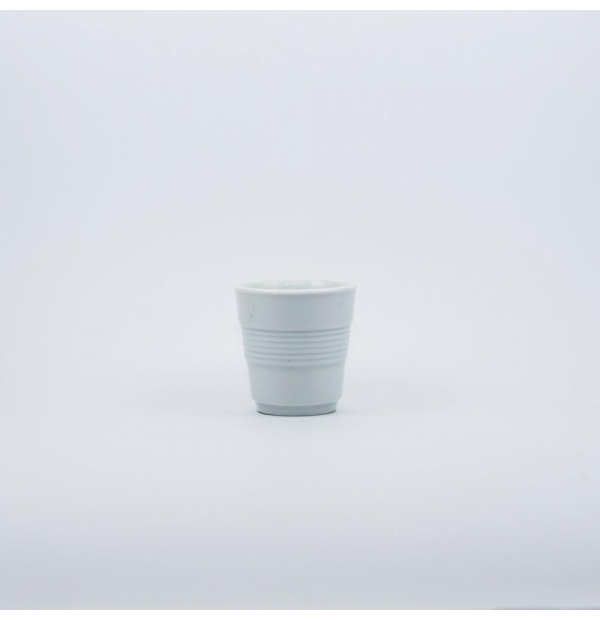 White drinking cup
