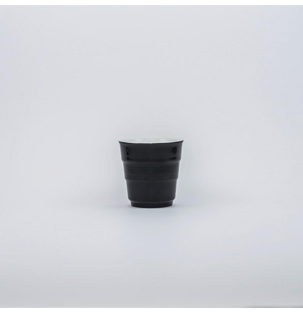 Black drinking cup