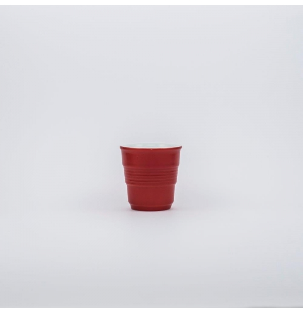 Red drinking cup
